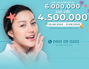 GIẢM 1.500.000VNĐ CHO GÓI TÀI KHOẢN CÁC DỊCH VỤ CHĂM SÓC DA THẨM MỸ DIVA