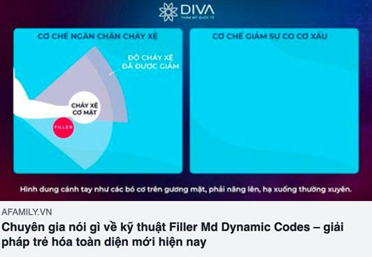 báo afamily.vn nói về kỹ thuật tiêm filler md dynamic codes tại thẩm mỹ diva
